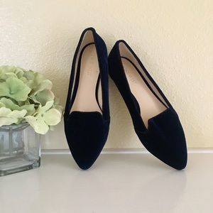 Nine West navy suede pointed flats